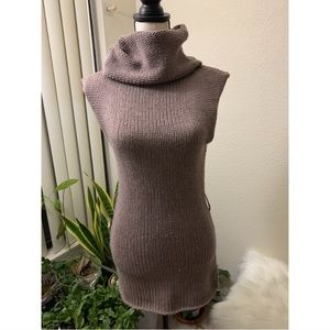 Mustard Seed Brown Cowl Turtleneck Sweater Dress
